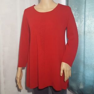 Carolyn Taylor Cherry Red Lightweight Sweater 🍒
